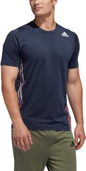 adidas FreeLift 3-Streifen T-Shirt Herren blau