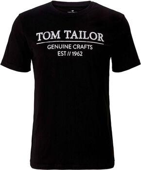 TOM TAILOR With Print T-Shirt Herren schwarz