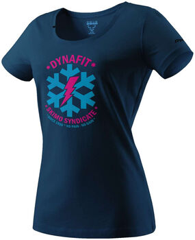 DYNAFIT Graphic Cotton T-Shirt Damen blau