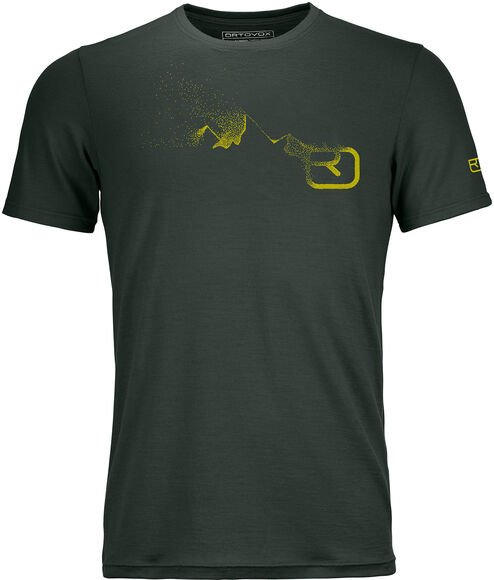 185 Merino Logo Spray T-Shirt