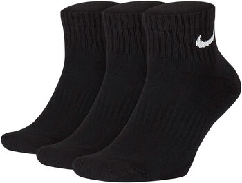 Nike U Nk Everyday Cushion Ankle Socke - 3er-Pack schwarz