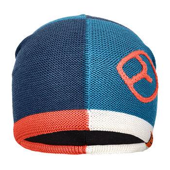 ORTOVOX Patchwork Mütze blau