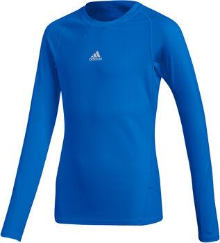 ADIDAS Alphaskin LS TEE Y LS Shirt Jungen blau