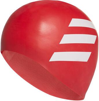 ADIDAS 3-Streifen Badekappe rot
