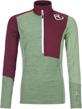 ORTOVOX Fleece Light Langarmshirt mit Halfzip Damen grün