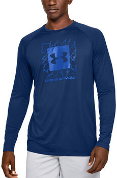 Under Armour Tech 2.0 Langarmshirt Herren blau