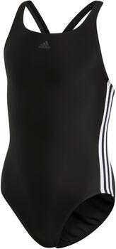 adidas Athly V 3-Streifen Badeanzug Mädchen schwarz