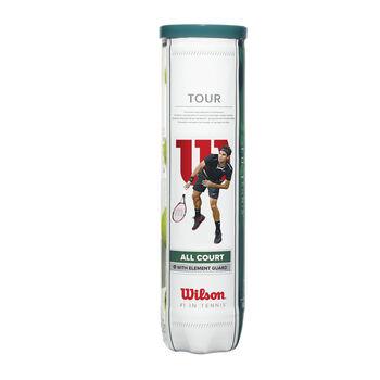 Wilson Tour All Court 4-er Tennisbälle gelb