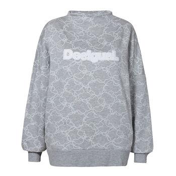 Desigual Camo Flower Sweatshirt Damen grau