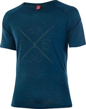 LÖFFLER Merino-Tencel T-Shirt Herren blau