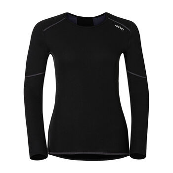 Odlo Warm L/S Shirt Unterhemd Damen schwarz