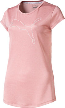 Puma Active Logo Heather T-Shirt Damen rot