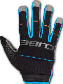 CUBE X Actionteam Radtrikot / Handschuhe schwarz