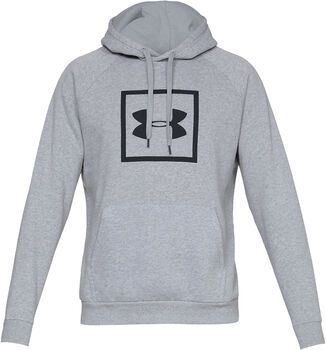 Under Armour RIVAL FLEECE LOGO Hoodie Herren grau
