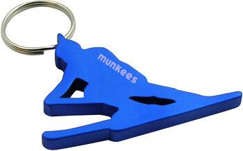 munkees Schlüsselanhänger, eloxiert grau