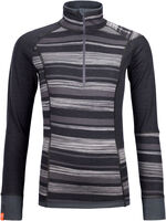 210 Supersoft Zip Neck Langarmshirt