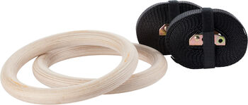Energetics Gymnastik-Ringe schwarz