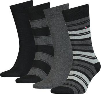 Tommy Jeans Tommy Hilfiger Stripe SockHr. Socken-Geschenkbox Herren schwarz