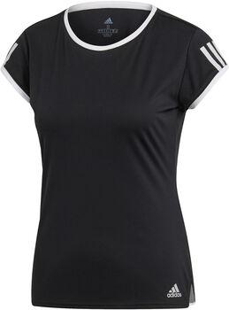 ADIDAS 3-STREIFEN CLUB T-Shirt Damen schwarz