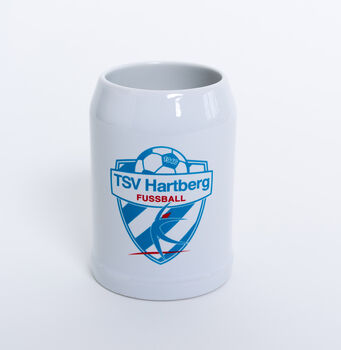 NOBRAND TSV Hartberg Bierkrug 0,5l  Herren weiß