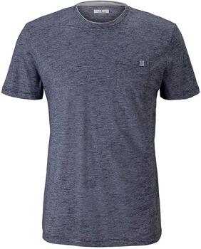 TOM TAILOR Fineliner T-Shirt Herren blau