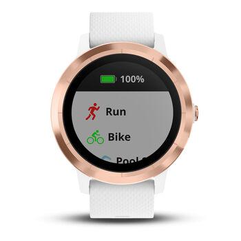Garmin Vivoactive 3 GPS-Multisport Uhr cremefarben