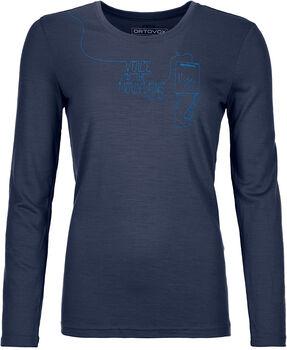 ORTOVOX 185 Merino F2 Langarmshirt Damen blau