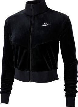Nike Sportswear Heritage Fleecejacke Damen schwarz