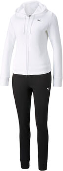 Puma Classic Hooded Sweat. Trainingsanzug Damen weiß