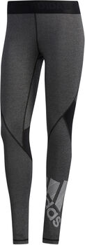 adidas Alphaskin Badge of Sport Tights Damen schwarz
