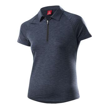 LÖFFLER Rainbow Poloshirt Damen grau