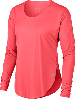 Nike City Sleek Langarmshirt Damen orange