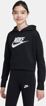 Nike Sportswear kurzer Hoodie Mädchen schwarz