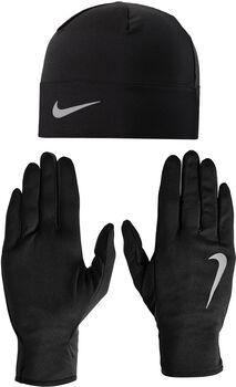 Nike Run Dry Hat and GloveSet schwarz