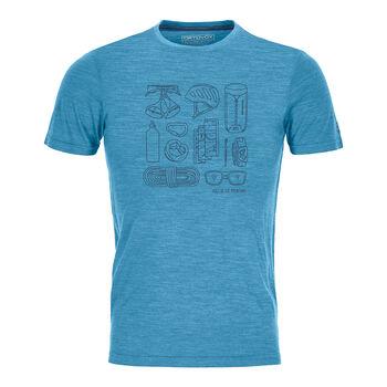 ORTOVOX Cool Tec Puzzle T-Shirt Herren blau