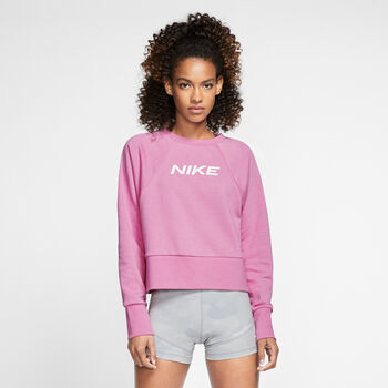 Nike Dry Get Fit Langarmshirt Damen pink