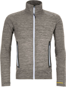 ORTOVOX Fleece Light Melange Fleecejacke Herren grau