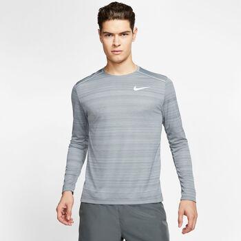 Nike Dri-FIT Miler Langarmshirt Herren grau