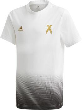 adidas Football Inspired X AEROREADY Cotton T-Shirt Jungen weiß