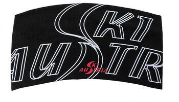 Ski Austria Headband Modal Stirnband schwarz