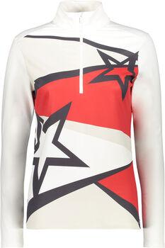 CMP Sweat Langarmshirt mit Halfzip Damen rot