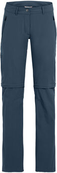 VAUDE Farley Stretch Zipp-Off Wanderhose Damen blau